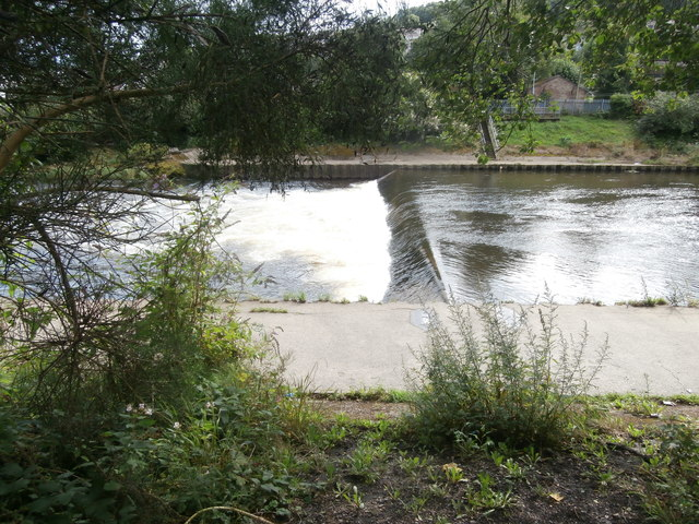 Weir on the River Taff, Pontypridd