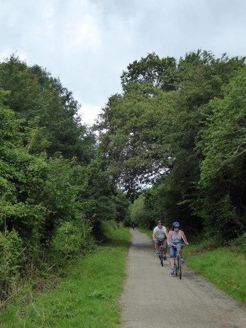 Cyclists on the Camel Trail near Scarlett's Well