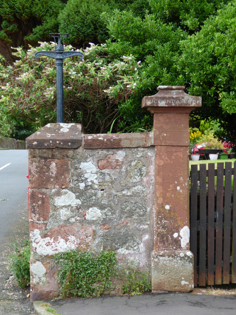 Old gas lamppost