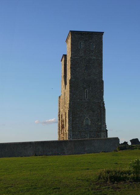Reculver: the twin towers from the south (2)