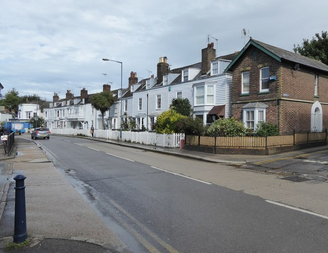Houses along the Canterbury road, Whitstable
