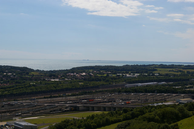 Channel Tunnel Terminal, from Crete Road West viewpoint