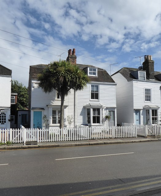 Weather-boarded cottages, Canterbury Road, Whitstable