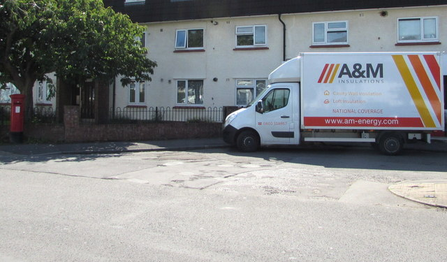 A&M Insulation vehicle, Westbourne Road, Whitchurch, Cardiff