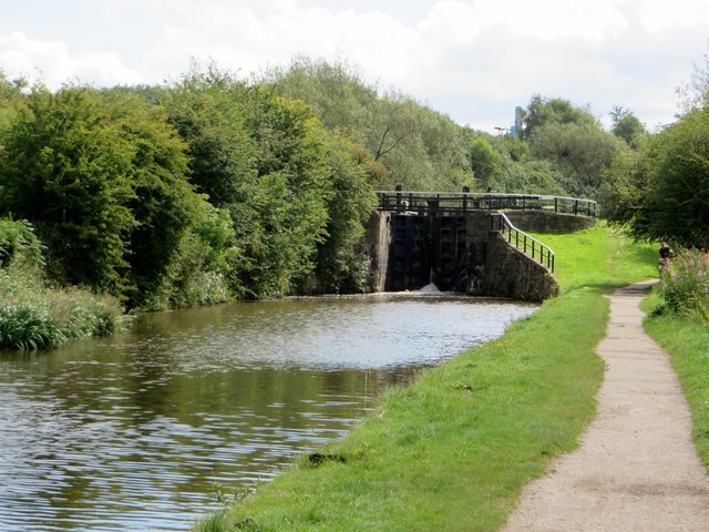 Lock gate on the Leeds and Liverpool canal