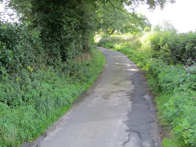 Barse Beck Lane heading south-westward