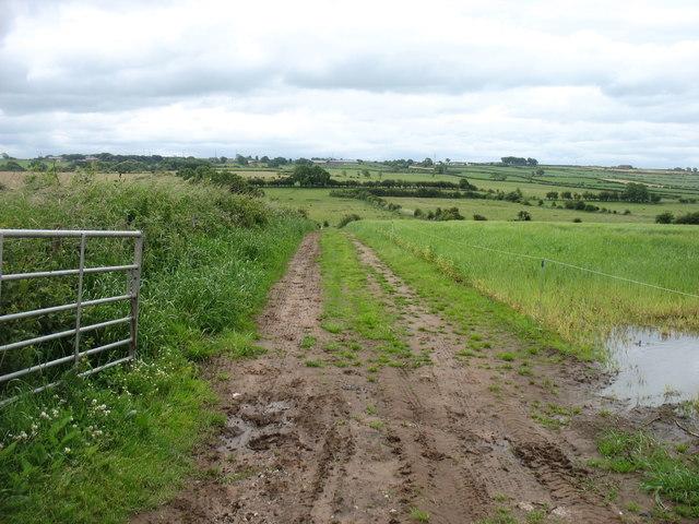 Farmland north of Hayton