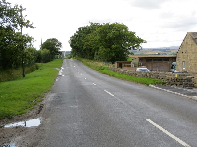 Menwith Hill Road at Turpin Lair