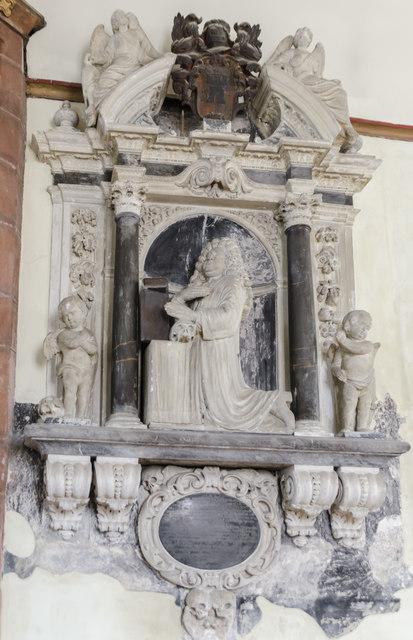 Memorial, St Martin's church, Exeter