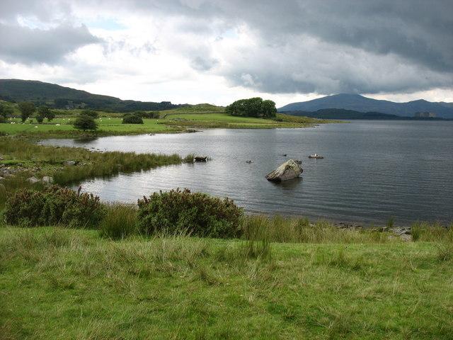 The south end of Llyn Trawsfynydd