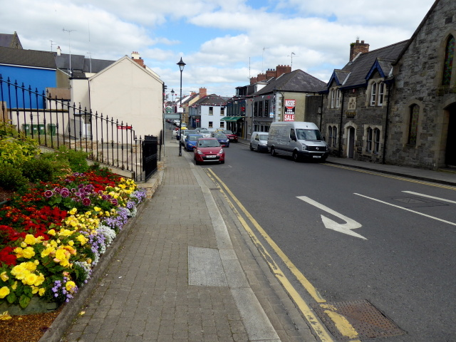 Floral display along John Street, Omagh