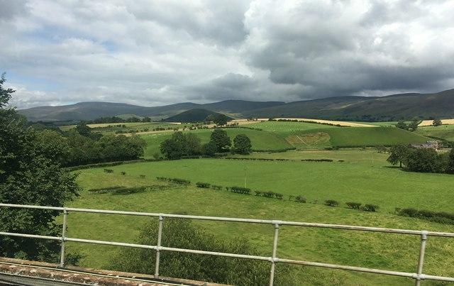 Fields beside the railway