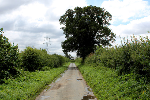 Narrow Lane heading South towards Sand Hutton