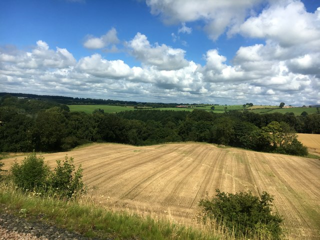 Harvested field in the Eden Valley