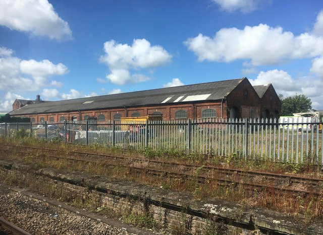 Old railway building at Durranhill Sidings
