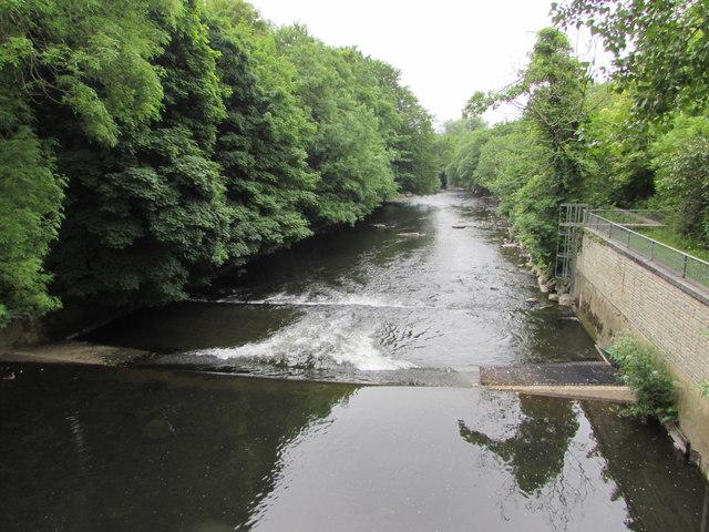 Weir across the Ogmore, Bridgend