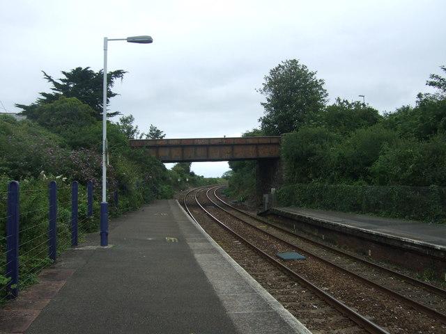 Footbridge near Hayle Railway Station