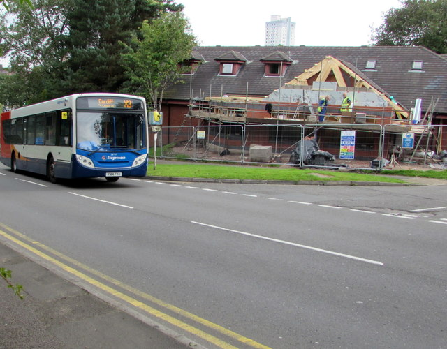 X3 bus in Old Cwmbran