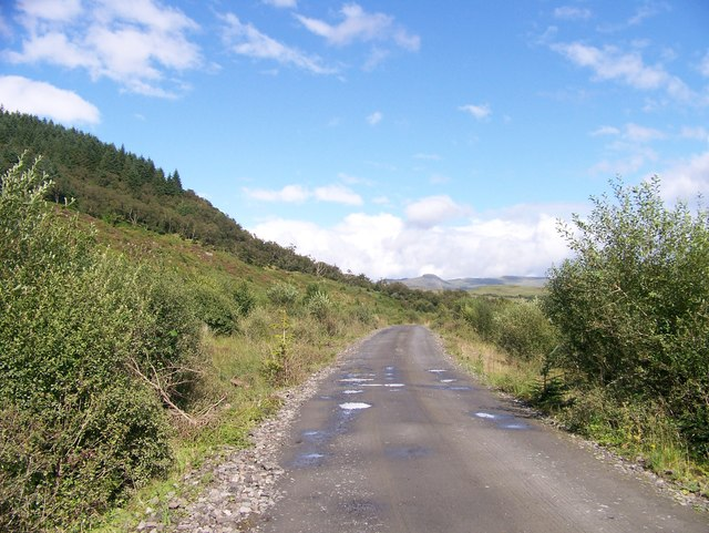A new road in the Stronafian Community Forest