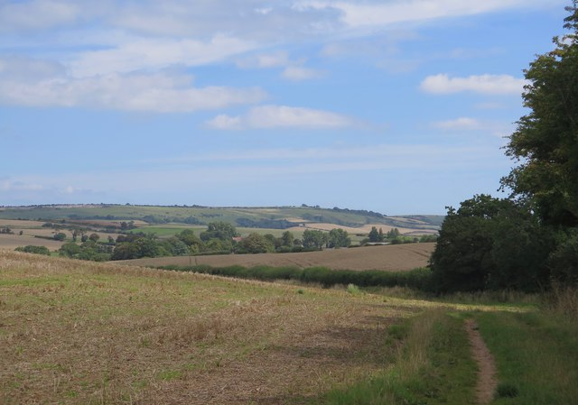 View from the Rookley to Merstone bridleway