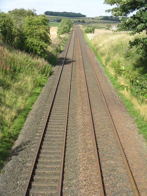The railway at Dairsie