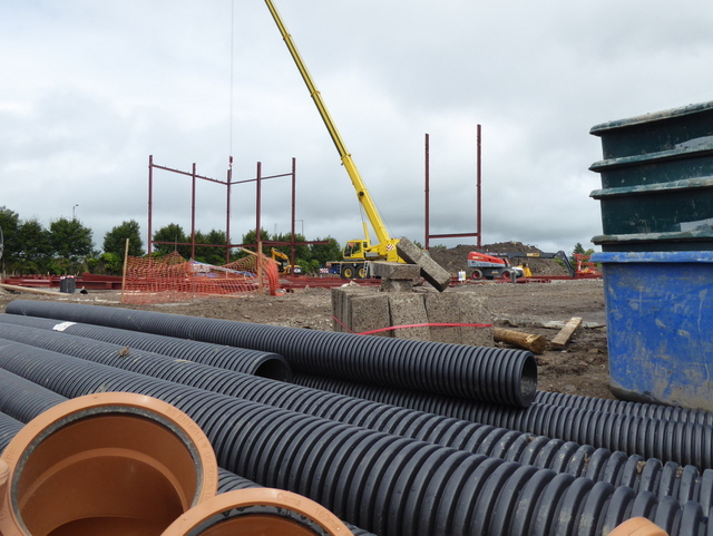 New cinema construction site, Omagh