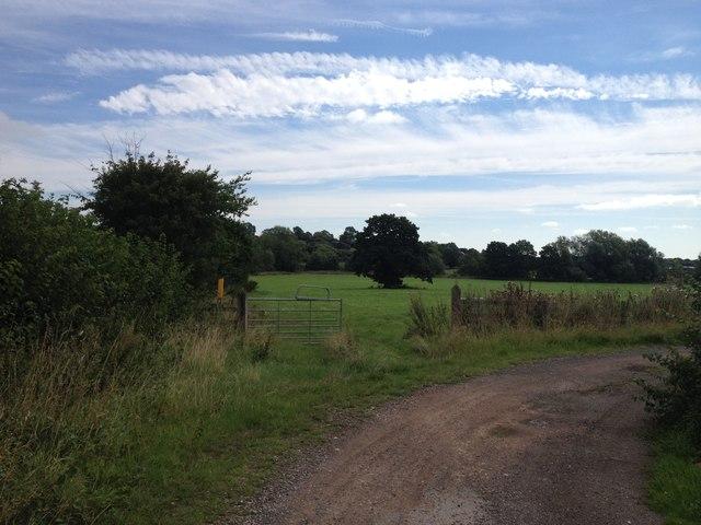 Footpath towards Botchester