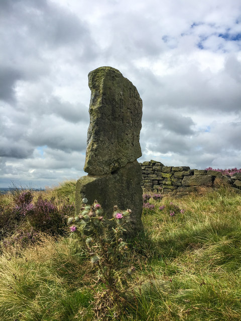 Ancient milestone on the Houndkirk Road