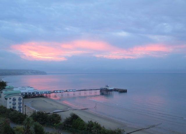 Sandown Bay at dawn