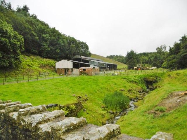 Craignant Lodge, farm buildings