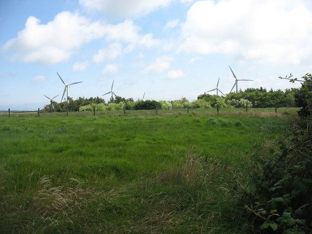 Small wind farm south of Parys Mountain