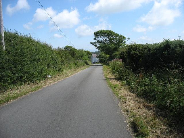 The lane to Llaneuddog and Brynrefail