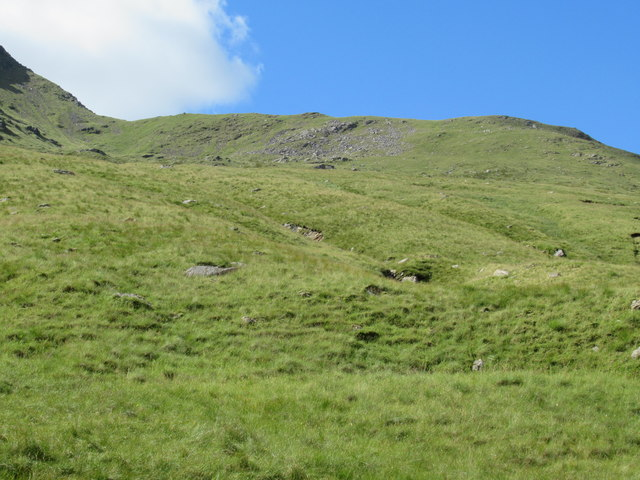 Steep ground west of Allt Coire Laoigh near Tyndrum