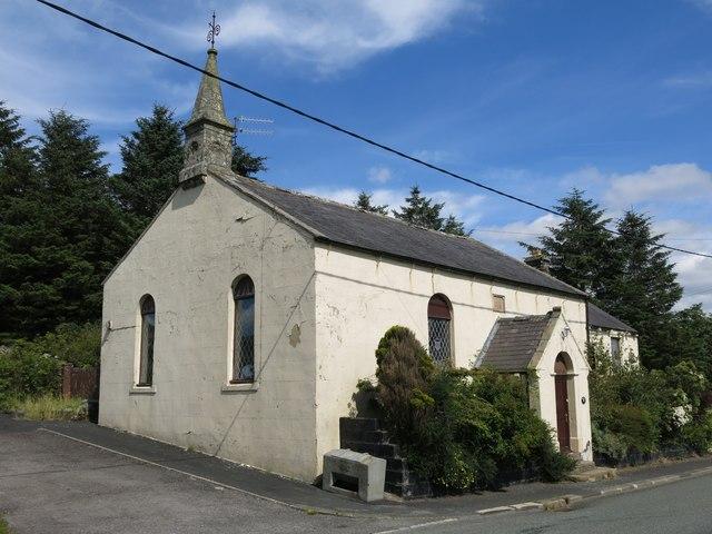 "Former chapel (now ""Greenlaws""), Lanehead"