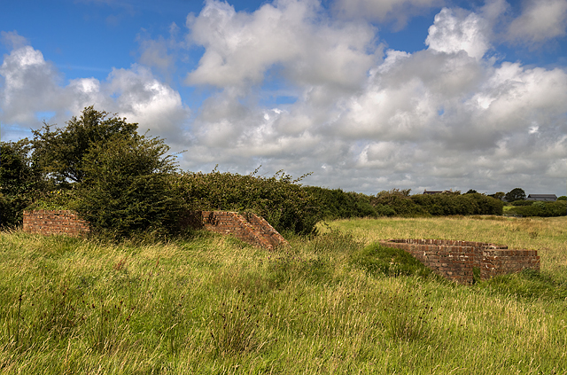 North Wales WWII defences: RAF Mona, Anglesey - LAA Emplacement & Blast Shelter (4)