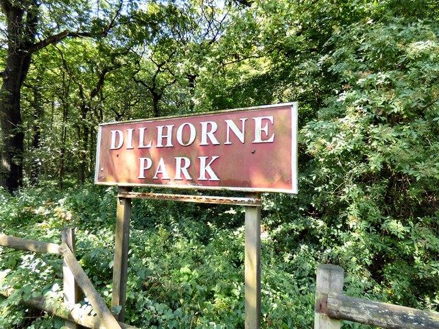 Dilhorne Park station sign