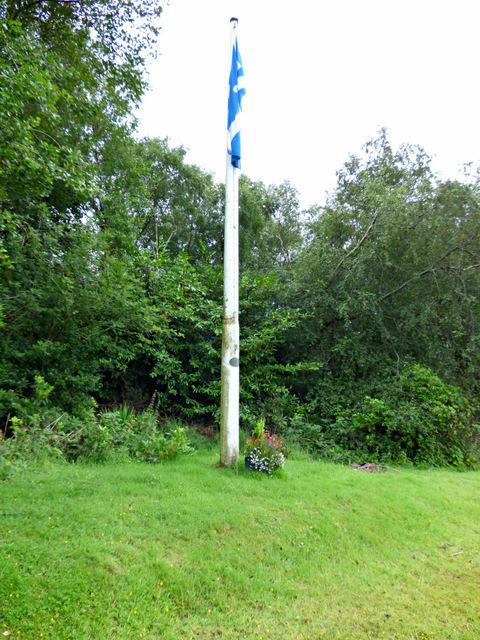 Skelmorlie Bowling Club flagpole