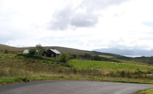 Gartavaich shepherd's cottage near Claonaig, Kintyre.