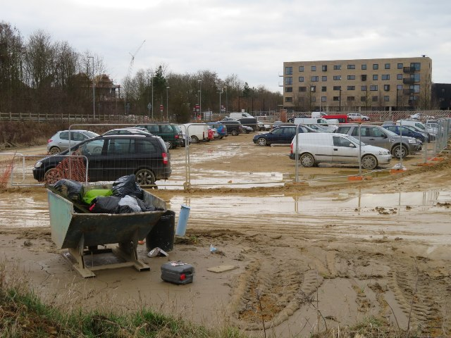 Builders car park by Hobson Square