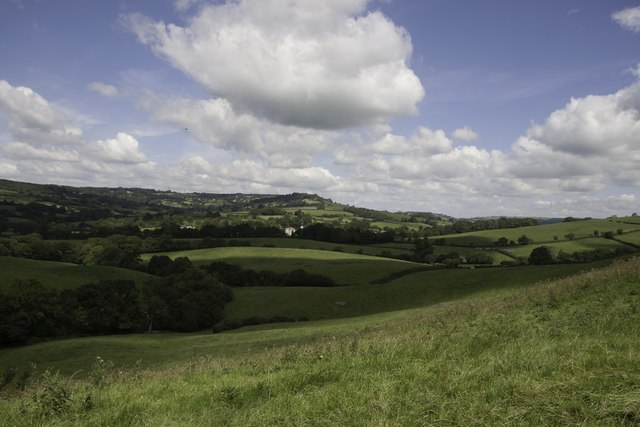 Rolling west Dorset countryside near Conegar Hill