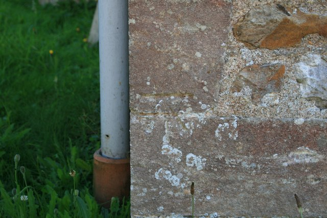 Benchmark on Wootton Fitzpaine Church
