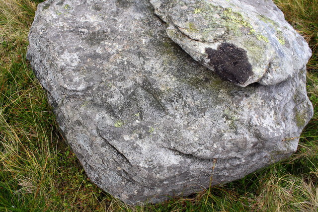 Rock with benchmark on Swarth Fell