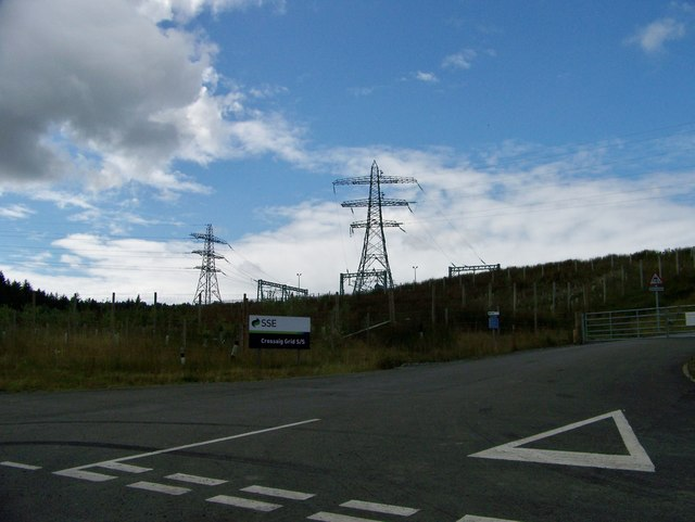 SSE electricity grid at Crossaig