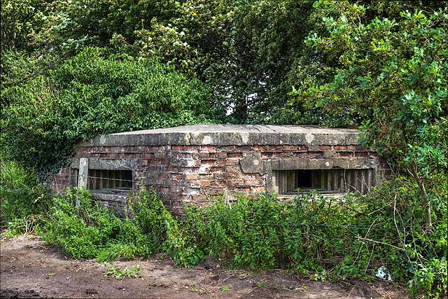 WWII Cheshire, RAF Cranage, near Middlewich - pillbox (5)