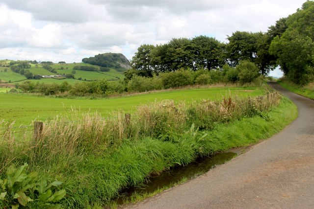 Minor road and Loudoun Hill