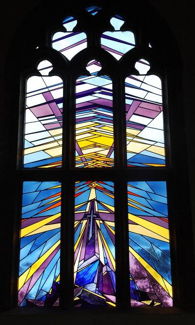 Stained glass window, Haselbury Plucknett church