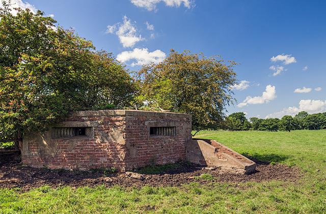 WWII Cheshire, RAF Cranage, near Middlewich - pillbox (8)