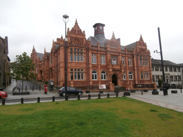 The old Town Hall, Merthyr Tydfil