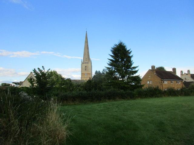 The spire of St. Gregory's church, Tredington
