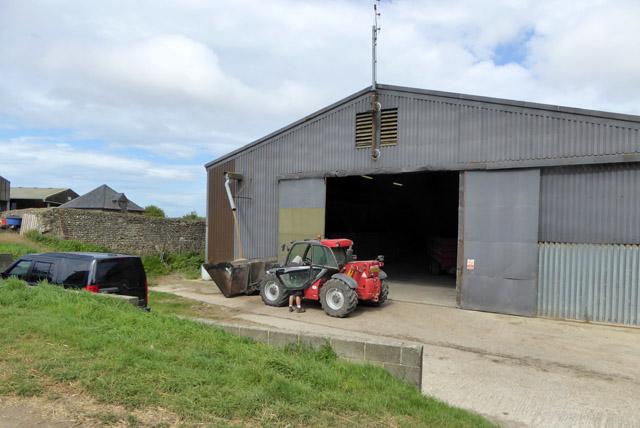 Manitou telehander at Clapham Barn